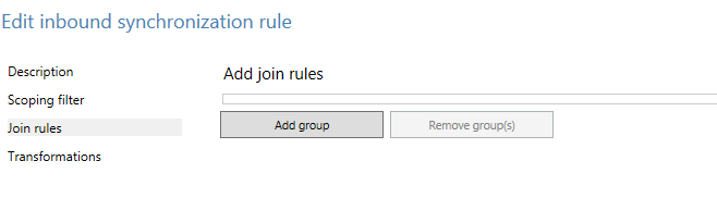 Join Rules